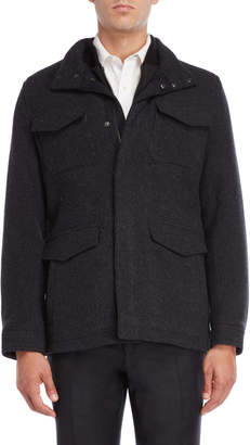 Michael Kors Charcoal Wool Four Pocket Jacket