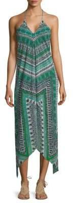 Ramy Brook Printed Asymmetrical Maxi Dress