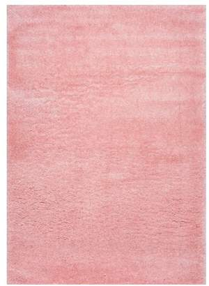 nuLoom Gynel Cloudy Shag Baby Pink 5' 3 Square Rug