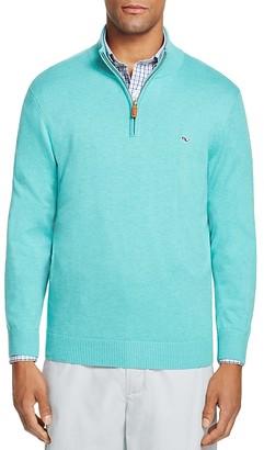 Vineyard Vines Pima Cotton Quarter Zip Sweater $135 thestylecure.com
