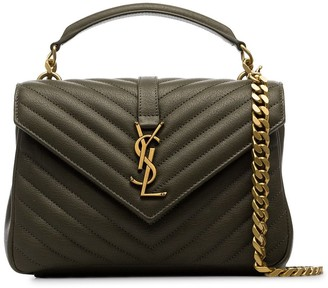Saint Laurent medium College mattelassé leather shoulder bag