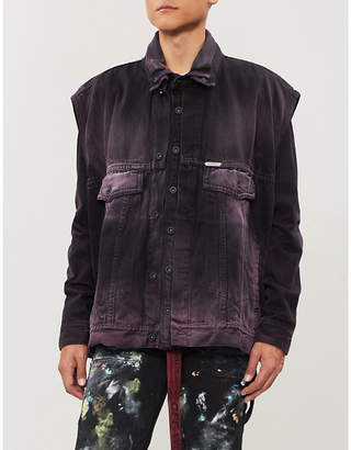 Off-White Layered distressed denim jacket