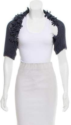 Brunello Cucinelli Short Sleeve Open Knit Bolero