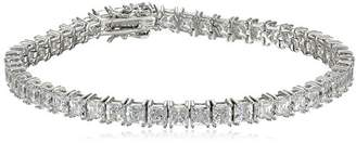 Swarovski Myia Passiello Timeless Platinum-Plated Sterling Silver and Zirconia Tennis Bracelet
