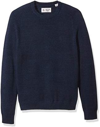 Original Penguin Men's Long Sleeve Honeycomb Pique Crew Neck Sweater