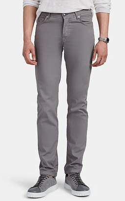 Marco Pescarolo Men's Washed Stretch Cotton-Silk Twill Trousers - Light Gray
