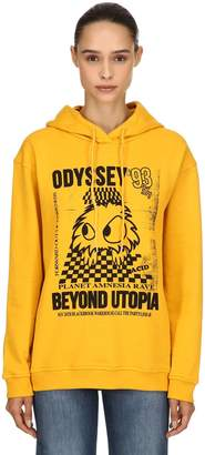McQ Rave Monster Printed Cotton Sweatshirt
