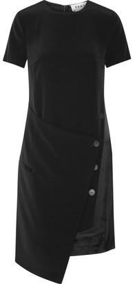 DKNY - Wrap-effect Faille Dress - Black $400 thestylecure.com