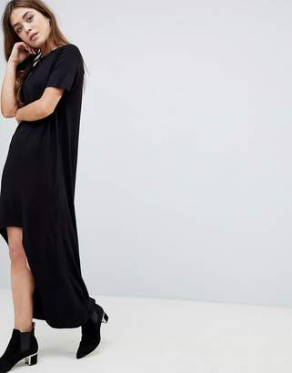 Asos Design Maxi T-Shirt Dress with Curved Hem