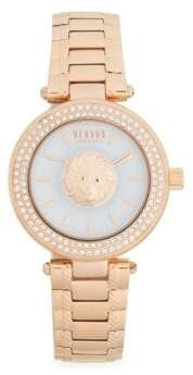 Versace Stainless Steel & Swarovski Crystal Bracelet Watch