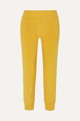 Norma Kamali Striped Stretch-jersey Track Pants - Yellow