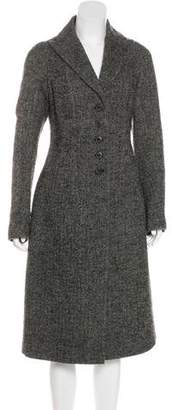 6267 Wool Peak-Lapel Coat