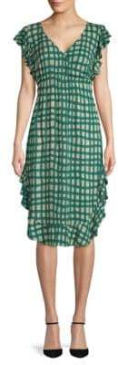 Plenty by Tracy Reese Ruffled Checkered Dress
