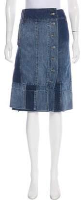 Gary Graham Asymmetrical Denim Skirt