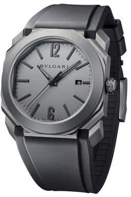 Bvlgari Men's 41mm Octo Solotempo Titanium Watch, Gray/Black