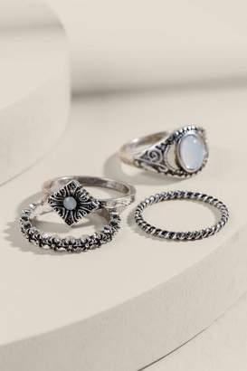 francesca's Linda Burnished Silver Ring Set - Silver