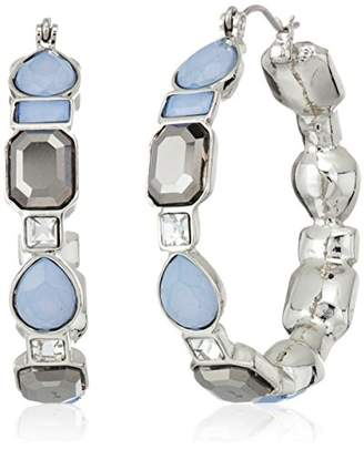 GUESS Womens Spring Whites Hoop Earrings With Stones