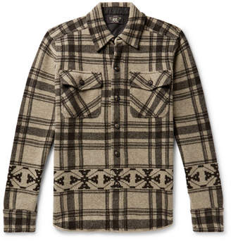 RRL Checked Wool And Cashmere-Blend Overshirt