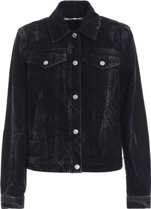 Givenchy Logo Eyelet Washed Jacket