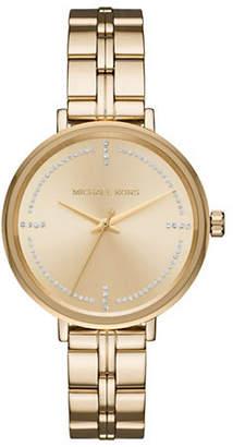 Michael Kors Bridgette Goldtone Stainless Steel Link Bracelet
