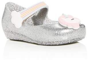 Mini Melissa Girls' Ultragirl Unicorn Mary Jane Flats - Walker, Toddler