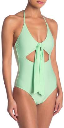 VYB Solid Tie One-Piece Swimsuit