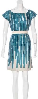 Loeffler Randall Wool Printed Dress