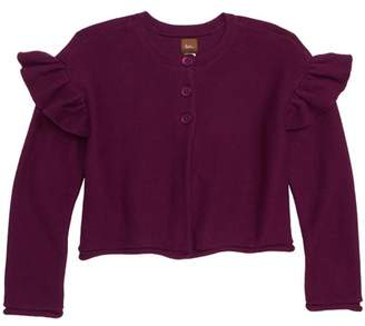 Tea Collection Ruffle Shoulder Cardigan (Toddler Girls, Little Girls & Big Girls)