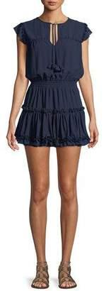 MISA Los Angeles Aryana Short-Sleeve Ruffle Mini Dress