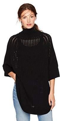Cable Stitch Women's Rib-Collar Tunic Sweater Large/X-Large