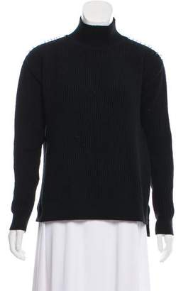 Thierry Mugler Embellished Wool-Blend Sweater