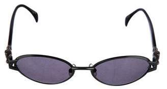 Kieselstein-Cord Oval Tinted Sunglasses