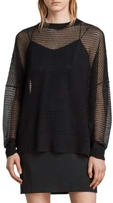 AllSaints Rizo Openwork Sweater