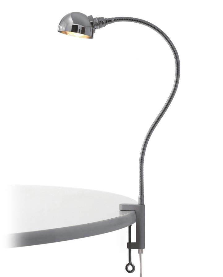 Stiletto - Eisenbein, verChromt mit Halbkugel-Reflektor