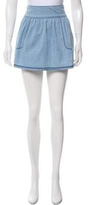 3x1 Chambray Mini Skirt