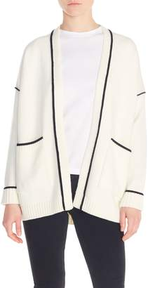 Maje Monia Tipped Cardigan