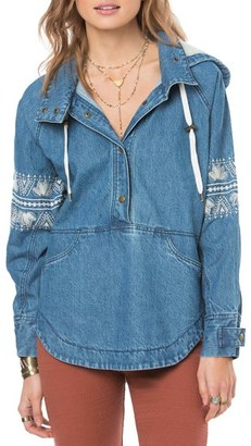 O'Neill 'Redwood' Embroidered Denim Pullover $99.50 thestylecure.com