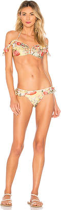Zimmermann Melody Shoulder Frill Bikini Set