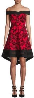 Quiz Off-The-Shoulder Fit-&-Flare Dress