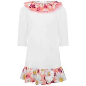 Ladybird Selini ActionGirls White Daisy & Beach Dress