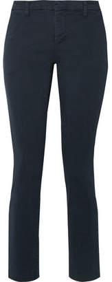 J Brand Clara Stretch-cotton Twill Slim-leg Pants - Midnight blue