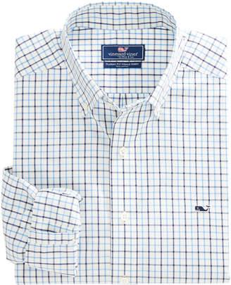 Vineyard Vines President Check Classic Whale Shirt