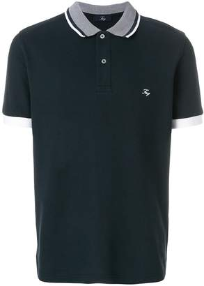 Fay contrast trim polo shirt