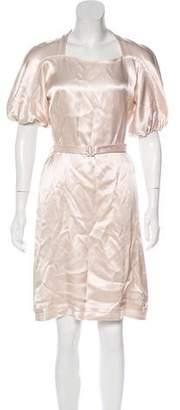Salvatore Ferragamo Satin Knee-Length Dress