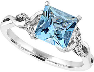 Effy Fine Jewelry 14K 1.49 Ct. Tw. Diamond & Aquamarine Ring