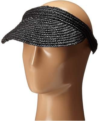 San Diego Hat Company WSV0004 4 Inch Brim Straw Slip-On Visor Casual Visor