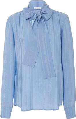 Altuzarra Visage Bow Detail Silk-Blend Blouse