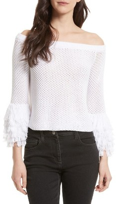 Women's Rebecca Minkoff Tolowa Off The Shoulder Blouse $188 thestylecure.com