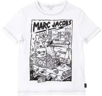 Little Marc Jacobs Logo Printed Cotton Jersey T-Shirt