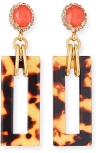 Elizabeth Cole Effie Link-Drop Earrings